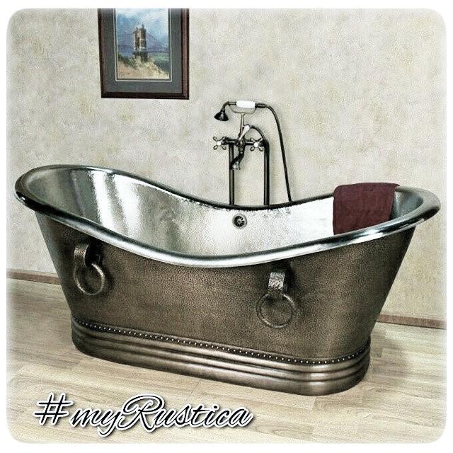 铜制浴缸锤纹设计
