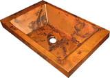 铜排水槽锤击