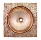 摩洛哥设计的铜浴室水槽