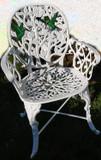 乡村花园椅蜂鸟