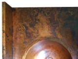 带水槽的定制浴室铜柜台