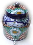 塔拉韦拉蓝花水缸