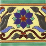 法国浮雕瓷砖蓝色