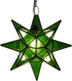 绿色彩色玻璃星形灯