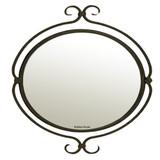 殖民地椭圆形铁镜