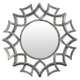 圆形锻铁镜