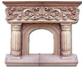 装饰石壁炉