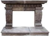 维多利亚时代的石头壁炉