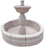 花园石喷泉