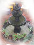 欧洲古老的石头喷泉