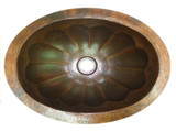 椭圆形手工铜浴缸水槽