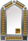 墨西哥民间艺术瓷砖锡镜