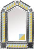 带墨西哥殖民地庄园瓷砖的锡镜