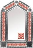 带人造瓷砖的锡镜