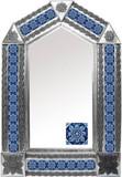 带有殖民地庄园瓷砖的锡镜