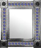 墨西哥旧大陆瓷砖墙镜