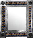 墨西哥民间艺术瓷砖镜子