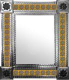 墨西哥镜子与创造的瓷砖