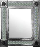 带有殖民地庄园瓷砖的墨西哥镜子