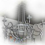 旧乡村铁吊灯