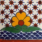 墨西哥阶梯瓦白黄绿