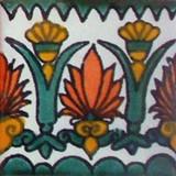 墨西哥阶梯瓦白绿色陶土