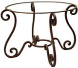 殖民地锻造铁制桌座
