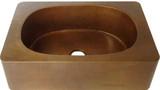 手工制作的围裙铜排水槽