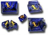 钴黄陶瓷浴缸配件套装