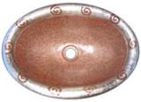 椭圆形庄园铜浴室水槽