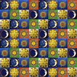 墨西哥民间艺术瓷砖混合