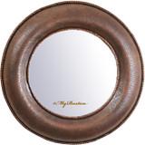 手工圆铜镜