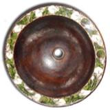墨西哥圆形铜浴室水槽