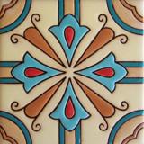 殖民地浮雕瓷砖蓝色