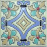 古欧洲浮雕瓷砖蓝色