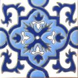 瓜纳华托浮雕瓷砖蓝色