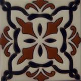 经典殖民地浮雕瓷砖黑色