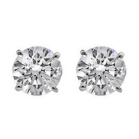 3.0 CTTW Diamond Stud Earrings (E/SI1 GIA Certified)