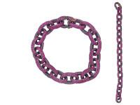 Link Chain Pink Sapphire Bracelet