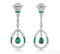Ziva Antique Emerald Earrings