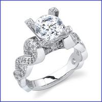 Gregorio 18K WG Diamond Engagement Ring R-391