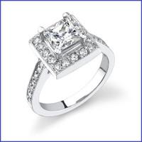 Gregorio 18K WG Diamond Engagement Ring R-399