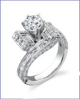 Gregorio 18K WG Diamond Engagement Ring R-405