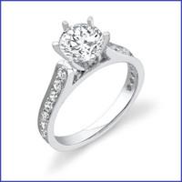Gregorio 18K WG Diamond Engagement Ring R-407