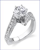 Gregorio 18K WG Diamond Engagement Ring R-413