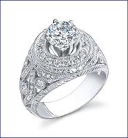 Gregorio 18K WG Diamond Engagement Ring R-415