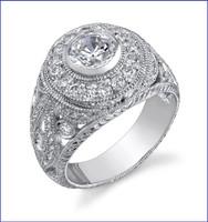 Gregorio 18K WG Diamond Engagement Ring R-415-1