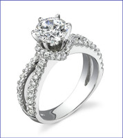 Gregorio 18K WG Diamond Engagement Ring R-438