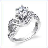 Gregorio 18K WG Diamond Engagement Ring R-452