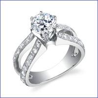 Gregorio 18K WG Diamond Engagement Ring R-453